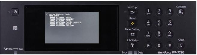 Reset Epson PX-M7110FP