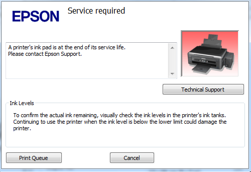 Epson T1110 Service Required