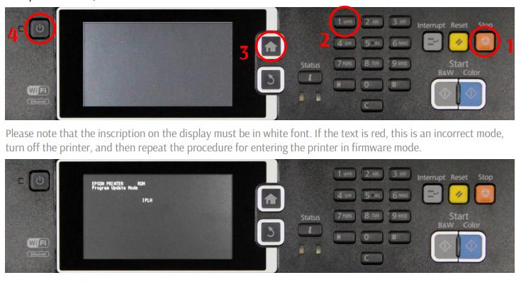 Chipless Firmware Epson WF-2850, WF-2851, WF-2855